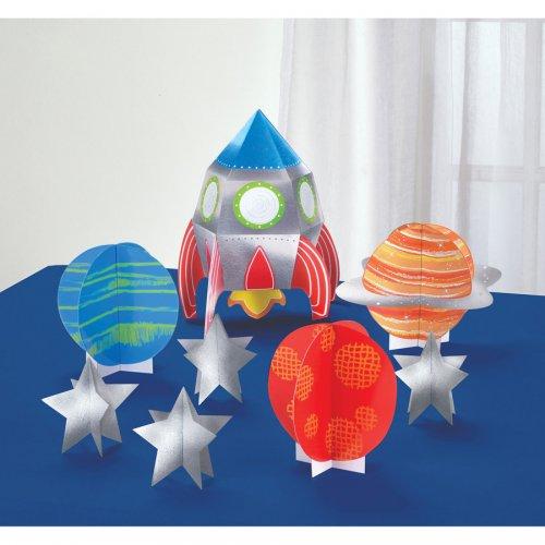 Kit 8 Déco de Table Espace 3D