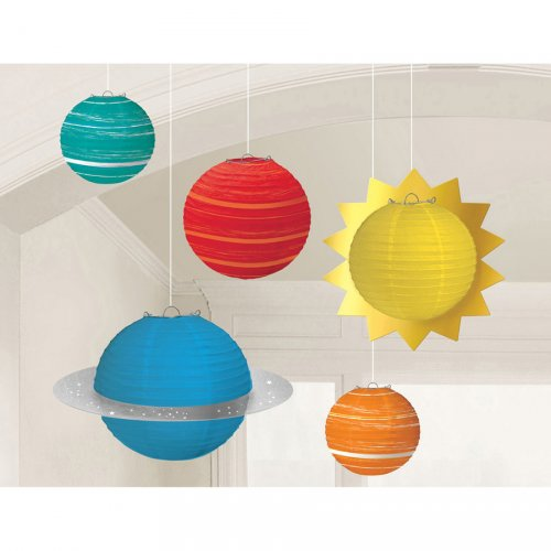 5 Lanternes Espace 3D