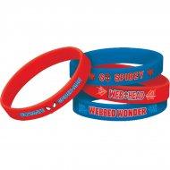 4 Bracelets Silicone Spiderman