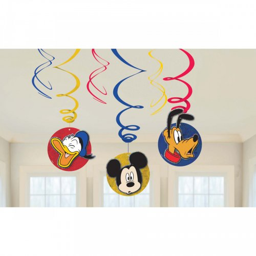 6 Guirlandes Spirales Mickey