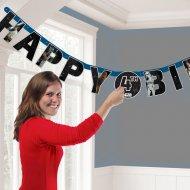 Guirlande Happy Birthday Star Wars (1,40 m) -  Age personnalisable