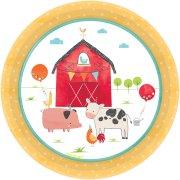 8 Petites Assiettes Ferme en Folie
