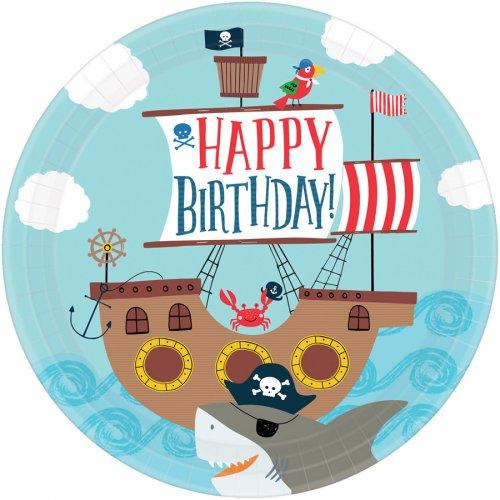 8 Assiettes Pirate Birthday