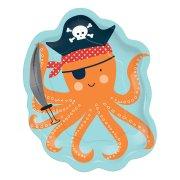 8 Petites Assiettes Pieuvre - Pirate Birthday