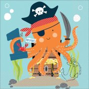 16 Serviettes Pirate Birthday - 1 An