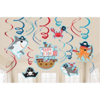 Contient : 1 x 12 Guirlandes Spirales Pirate Birthday