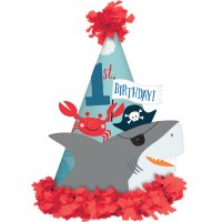 Contient : 1 x 1 Chapeau Pirate Birthday Relief - 1 An