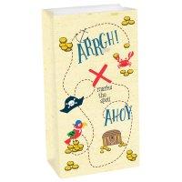 Contient : 1 x 8 Pochettes Cadeaux Pirate Birthday - Papier