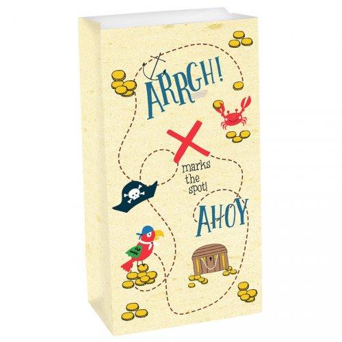 8 Pochettes Cadeaux Pirate Birthday - Papier