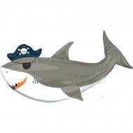 Ballon Géant Requin (104 cm) - Pirate Birthday
