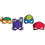 8 Masques Tortue Ninja - Carton