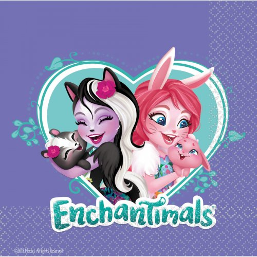 16 Serviettes Enchantimals