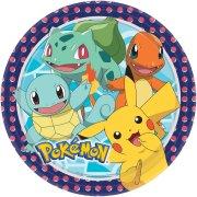 8 Assiettes Pokémon Friends