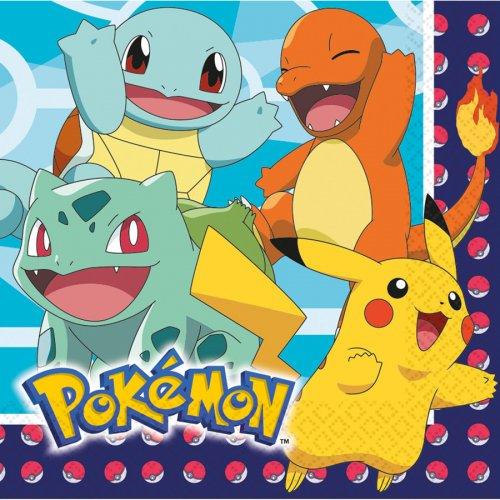 16 Serviettes Pokémon Friends