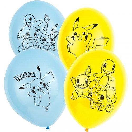 6 Ballons Pokémon Friends