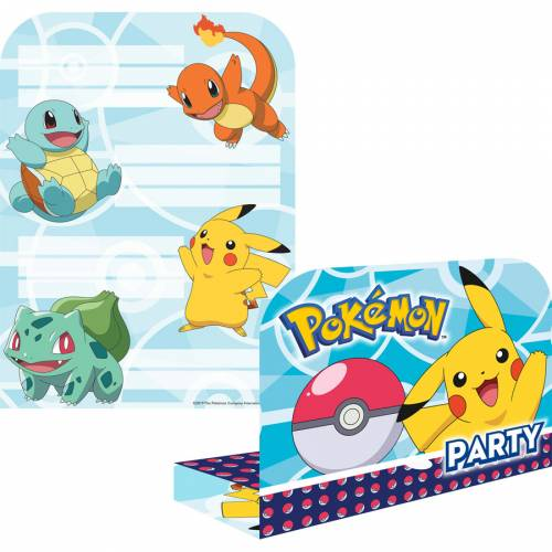8 Invitations Pokémon Friends