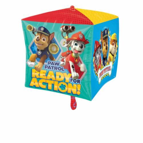 Ballon Cube Gonflé Pat Patrouille - Hélium