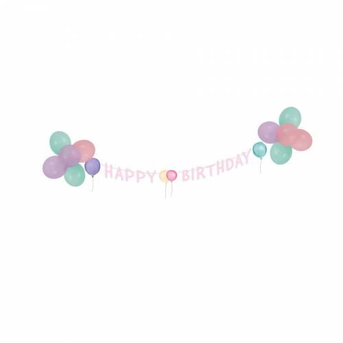 Kit Déco Happy Birthday Pastel