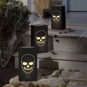 6 Photophores Papier - Tête de mort