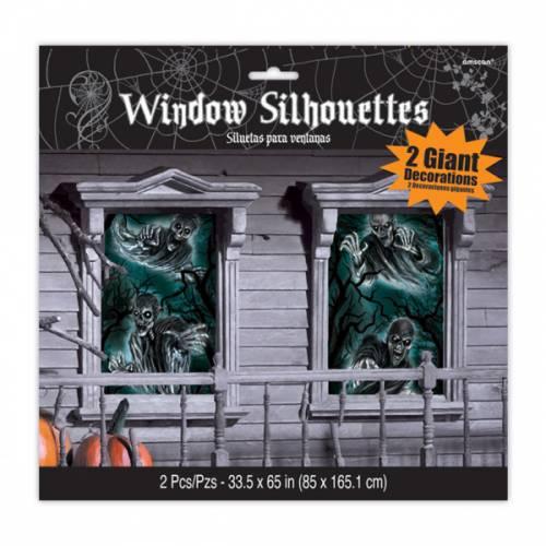2 Décorations de Fenêtre - Halloween