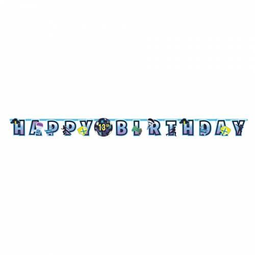 Guirlande Lettres Happy Birthday Battle Royal Personnalisable