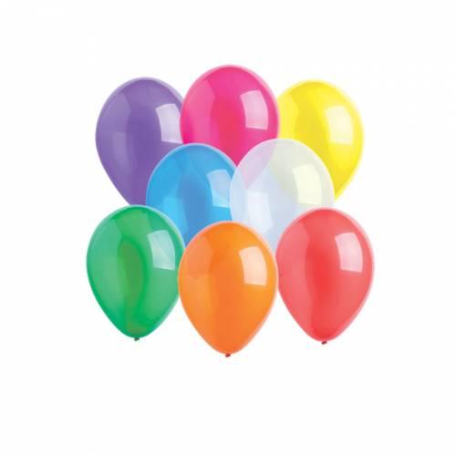 10 Ballons Latex Assortis - Crystal