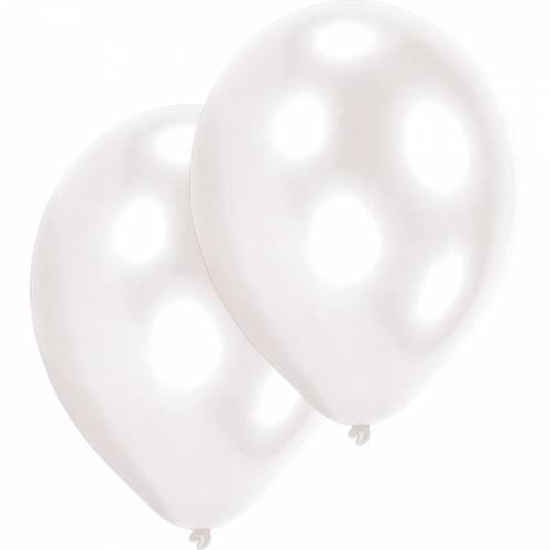 10 Ballons Latex - Nacrés Blanc