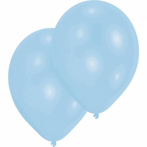 10 Ballons Latex - Nacrés Bleu Clair