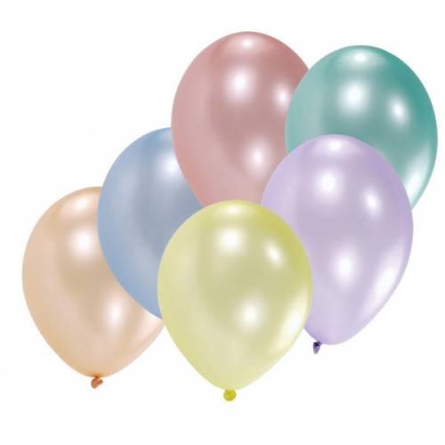10 Ballons Latex Assortis Crystal Perle