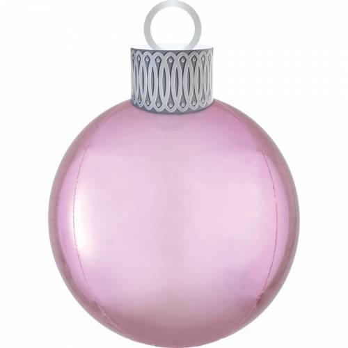 Ballon Orbz Boule de Noël Rose