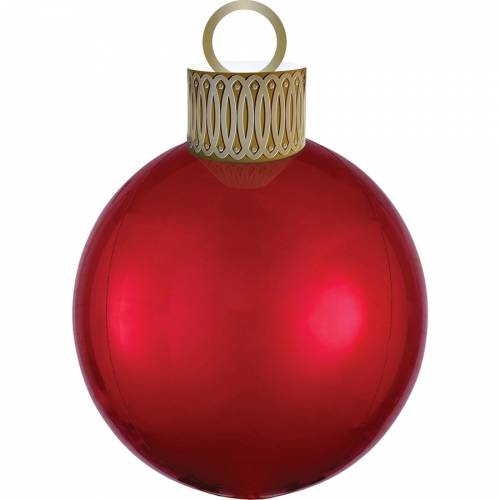 Ballon Orbz Boule de Noël Rouge