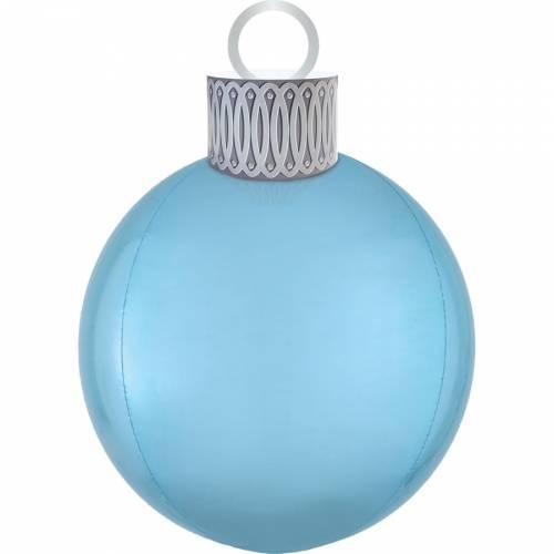 Ballon Orbz Boule de Noël Bleue