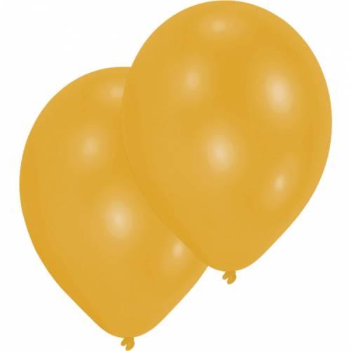 10 Ballons Or Métalique
