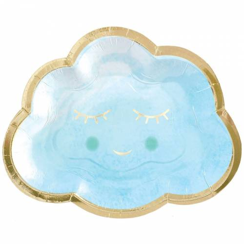 8 Assiettes Oh Baby Boy Nuage !
