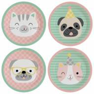8 Assiettes Hello Pets