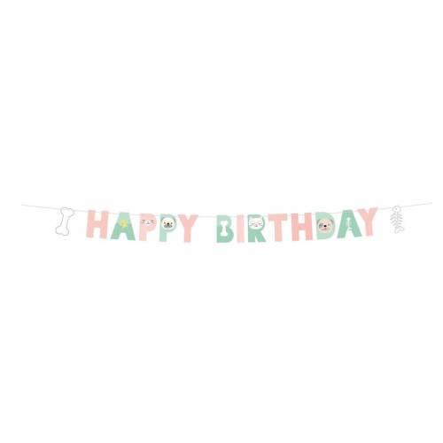 Guirlande Lettres Happy Birthday Hello Pets