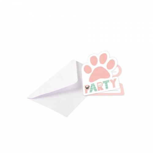 8 Invitations Hello Pets