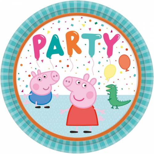 8 Assiettes - Peppa Pig Party