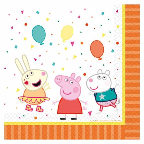 16 Serviettes - Peppa Pig Party