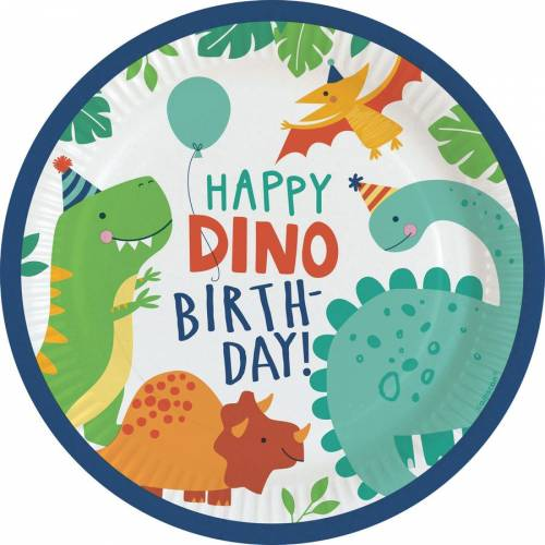 8 Assiettes - Happy Dino Party