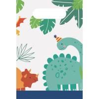 Contient : 1 x 8 Pochettes Cadeaux - Happy Dino Party