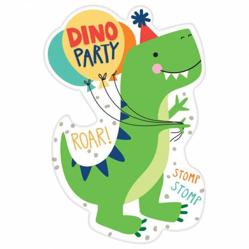 8 Invitations - Happy Dino Party