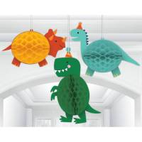 Contient : 1 x 3 Décorations à Suspendre - Happy Dino Party