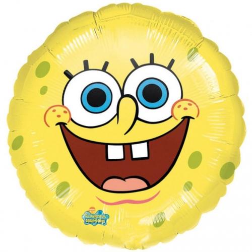 Ballon Gonflé à l Hélium Bob l Eponge Smiley