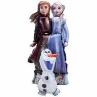 Ballon Géant Elsa, Anna et Olaf Airwalkers - Reine des Neiges 2
