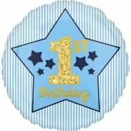 Ballon à Plat 1 an Bleu/Or