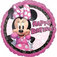 Ballon à Plat Minnie Happy Birthday