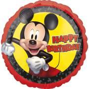 Ballon Gonflé à l'Hélium Mickey Happy Birthday