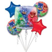 Bouquet de 5 Ballons Pyjamasques