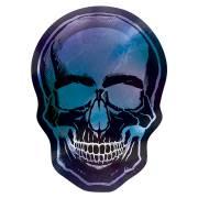 8 Assiettes Tête de Squelette Réfléchissant